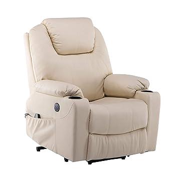 Mcombo Elektrisch Aufstehhilfe Fernsehsessel Relaxsessel Massage Heizung Elektrisch Verstellbar Usb Creme