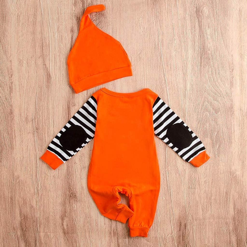 Hat Armilum Halloween Baby Boy Girl Outfit My First Halloween Pumpkin Hoodie Romper Bodysuit Jumpsuit Romper