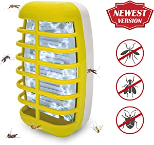 Bug Zapper 2020 New Electronic Mosquito Insect Killer Night Light Mosquitos Bug Zappers- Non-Toxic, No Radiation Insect Trap Lamp for Home Bedroom, Kitchen& Office (Yellow)
