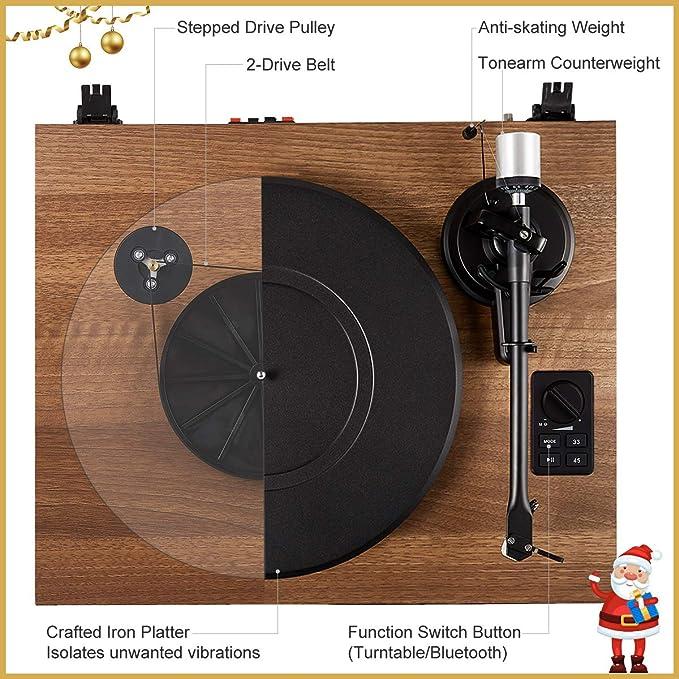 Amazon.com: 1byone - Sistema de tocadiscos de alta fidelidad ...