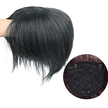 neue hohe Qualität größte Auswahl an 2019 authentisch 100% Echthaar Topper Haarteil Toupet Clip Haarverdichtung Spitze Perücke  für Frauen
