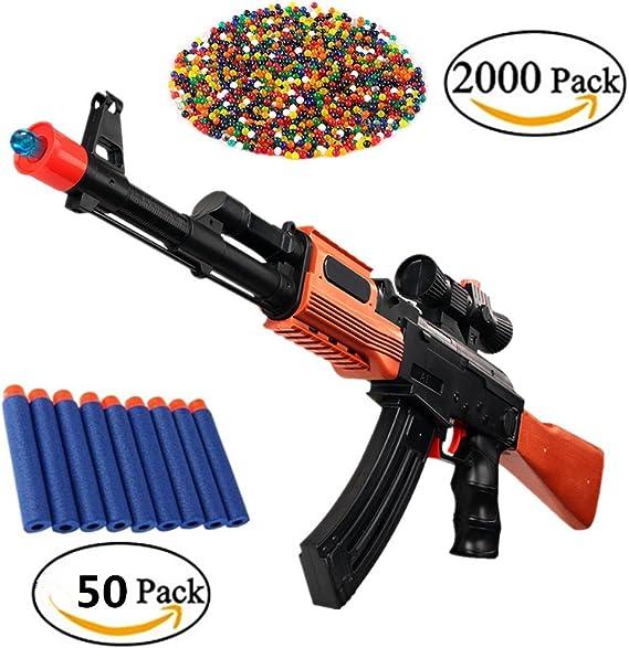Pistola de Juguete XAGOO 2-en-1 AK 47 con dardo de Espuma y Bola de Polímero de Agua: Amazon.es: Juguetes y juegos