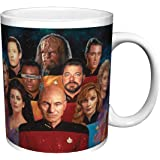 Star Trek The Next Generation Cast Group (Nicky Barkla The Final Frontier) Sci-Fi TV Television Show Ceramic Gift Coffee (Tea, Cocoa) 11 Oz. Mug