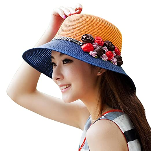 Amazon.com  WITERY Women Ladies Summer Sun Hat Wide Brim Sun Hats ... 55b11d14ced