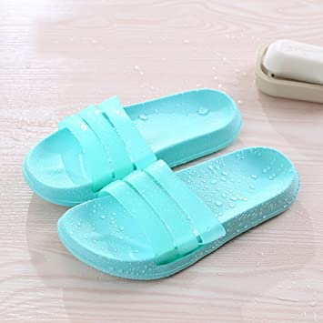 879cb89765a9a1 Comfortable Bathroom with slippers Anti-skid soft bottom home bath shoes  Couple cool slippers Men