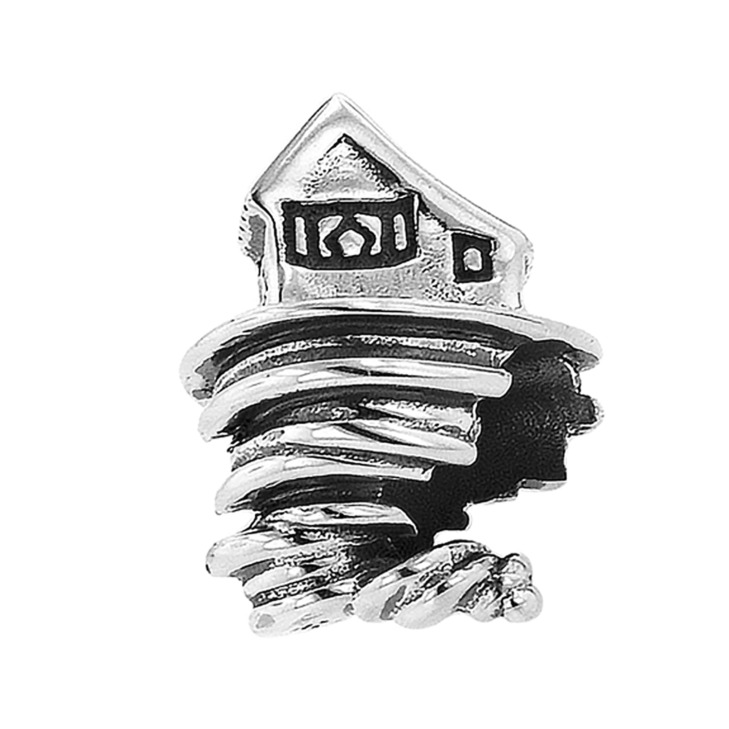 Sterling Silver Wizard of Oz Farm Twister Bead Charm