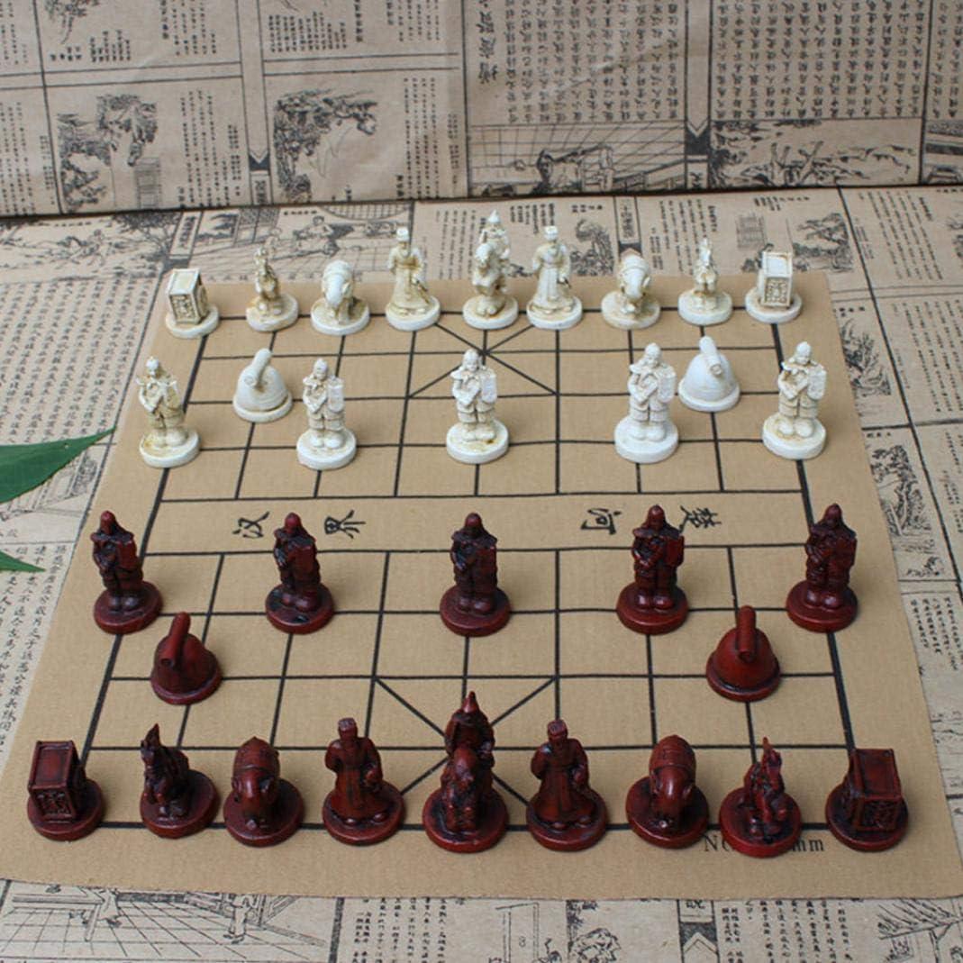 YSHTAN juego de ajedrez chino, otros equipos deportivos, herramienta de reparación, vintage, Terra Cotta Warriors, juego de ajedrez coleccionable, regalos de entretenimiento: Amazon.es: Iluminación