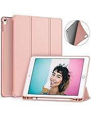 Ztotop Funda para iPad Pro 10.5 con Porta-lápiz, Ultra Delgado y Suave TPU Negro y Cubierta Triple del Sistema, función Auto-Activa, Funda Elegante Protectora de Cuerpo Complete, Oro Rosa