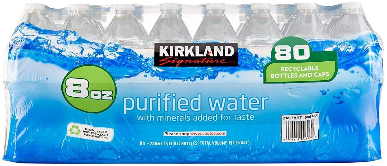 Kirkland Signature Premium Drinking Water, 8 Oz, 3 case (80 Bottles)