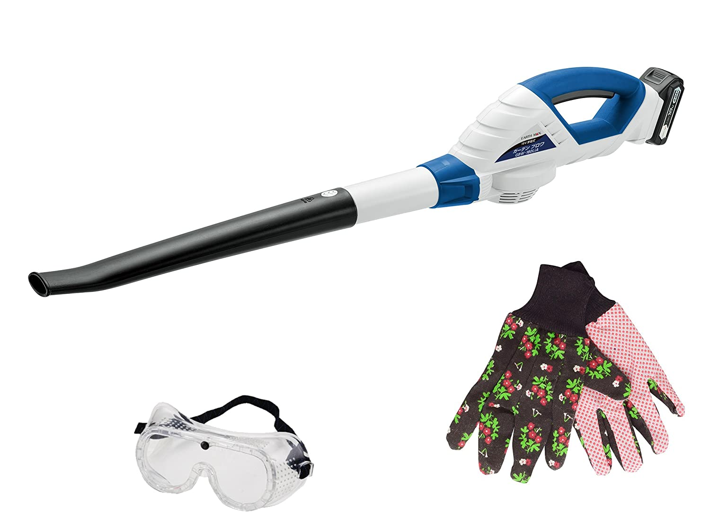 ガーデン 掃除機 落ち葉 枯れ葉 吹き飛ばし ロングノズル ガーデンブロワ 充電式 作業ゴーグル ガーデングローブ付 B074VZWJ6W