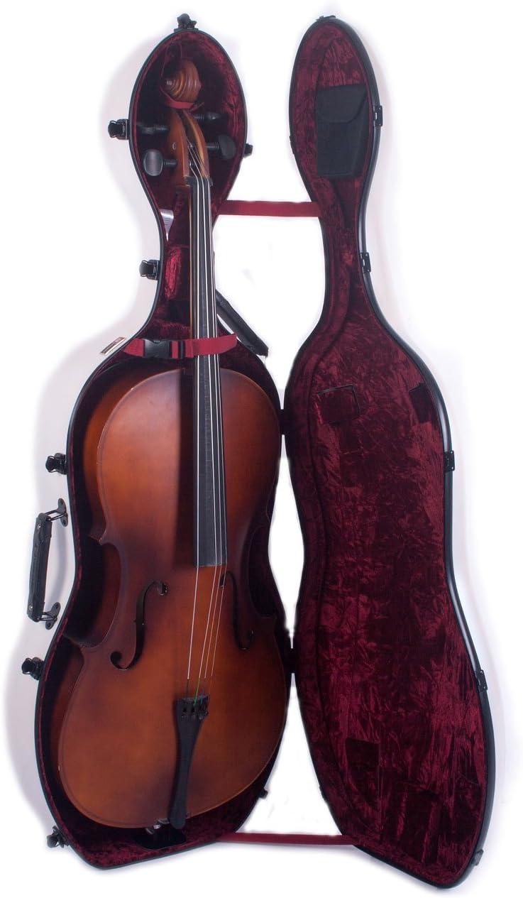 Crossrock crf3000cef violonchelo 4/4 con ruedas de fibra de carbono caso: Amazon.es: Instrumentos musicales