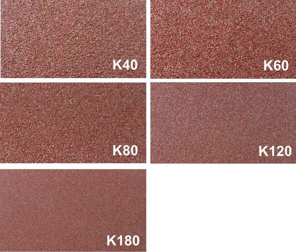 /5/grains 1/x K40//60//80//120//180//Papier abrasif//de pon/çage Mix//bandes abrasives Lot de 5/m/élange de tissus Bandes abrasives 100/x 560/mm pour ponceuse /à bande/