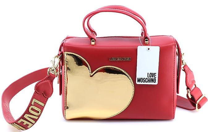 BORSA DONNA LOVE MOSCHINO BAULETTO CALF ROSSO CUORE GOLD CON TRACOLLA  B18MO69  Amazon.it  Abbigliamento 683ec62020f