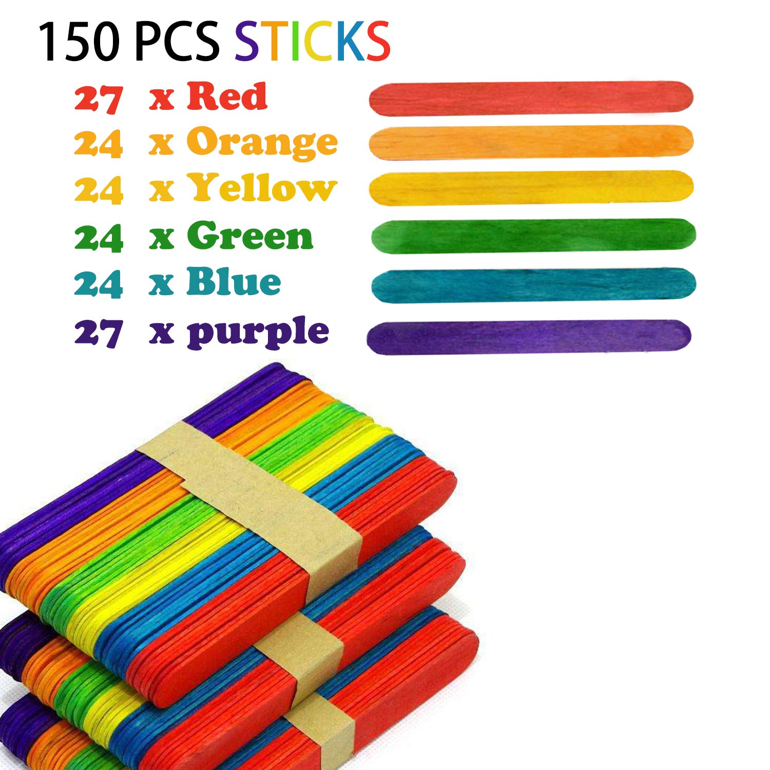 """Catpalm Long Bamboo Craft Sticks for Crafts and DIY/'ers 12/"""" X 5//1/"""",100 Pieces"""