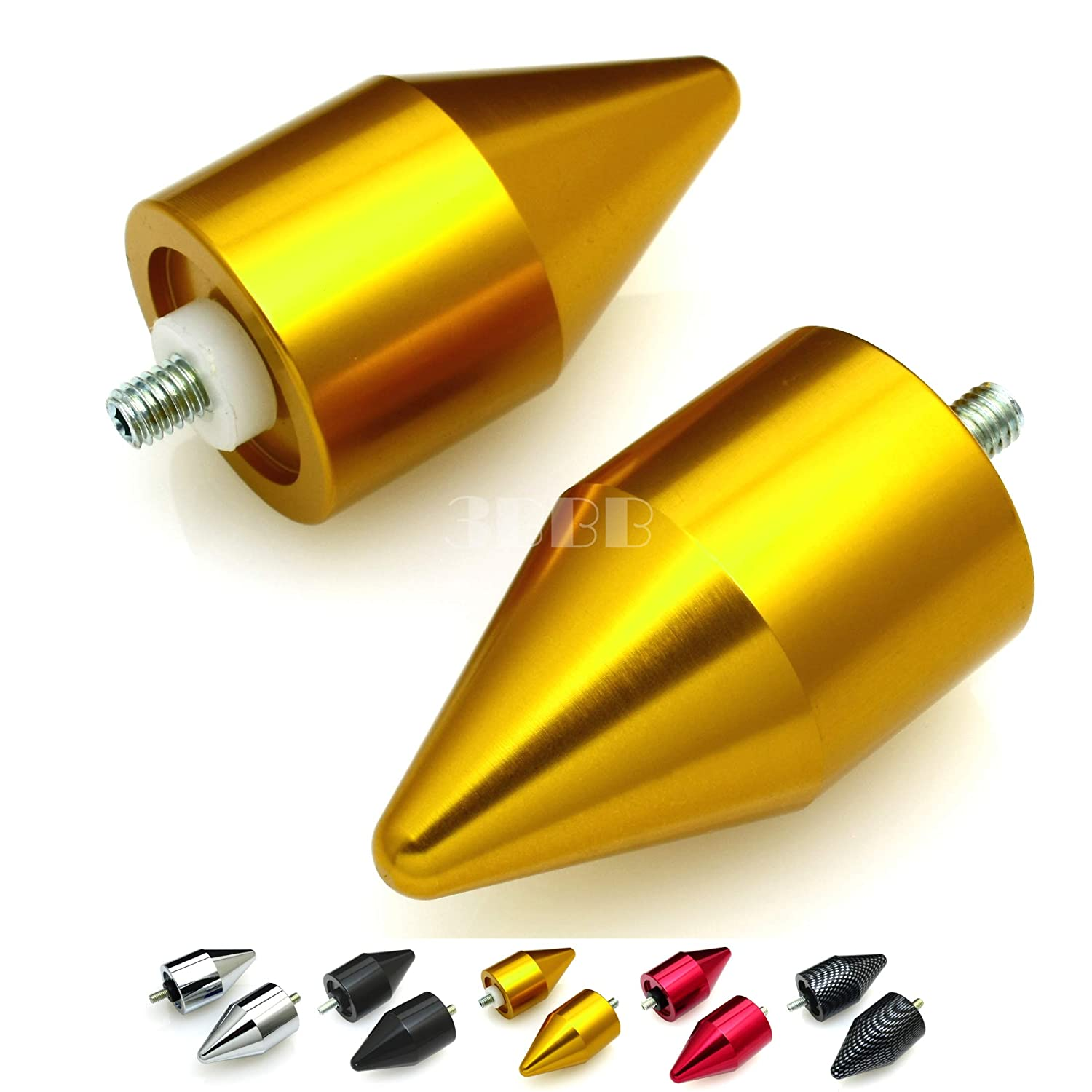 Yamaha YZF R6 2006 2007-2012 YZF R1 1998-2010 2011 2012 SPIKE BAR ENDS Gold