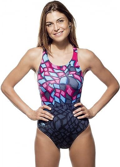 Turbo - Bañador Mujer Crystal PBT Tira Ancha Doble Capa: Amazon.es: Ropa y accesorios