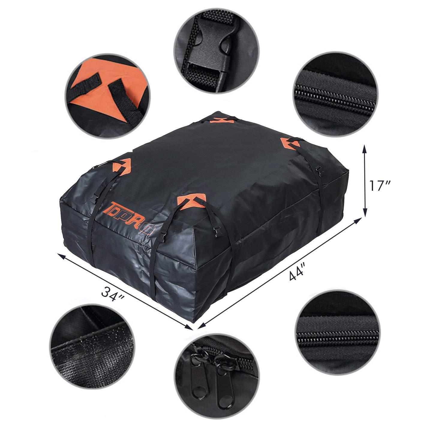 Waterproof Snowproof Rainproof Car Cargo Bag Soft-Shell Carriers 15 Cubic Feet Capacity Luggag Rack Bag Acouto Car Roof Bag Car Rooftop Cargo Carrier