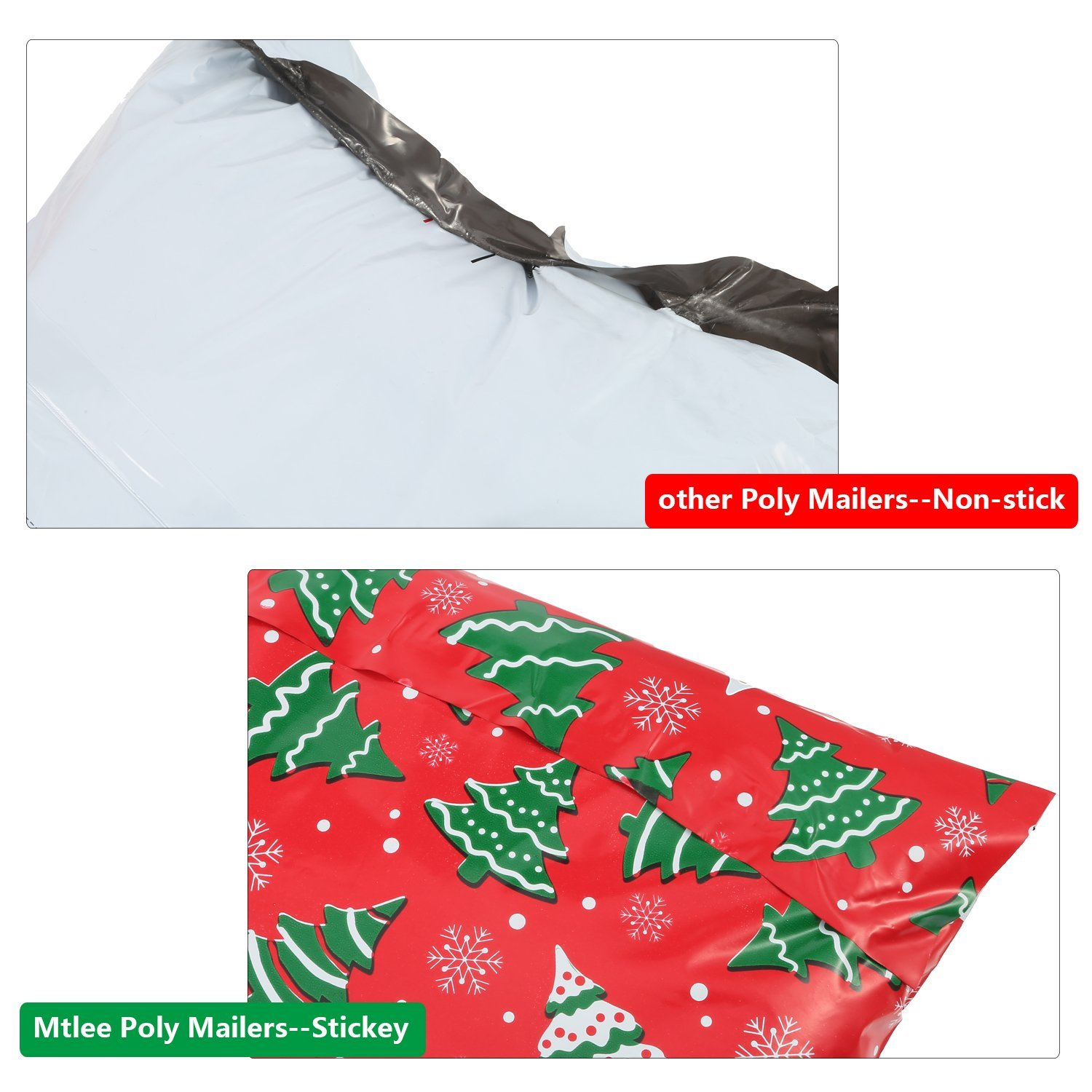 Amazon Mtlee 10 by 13 Inch Christmas Designer Poly Mailers