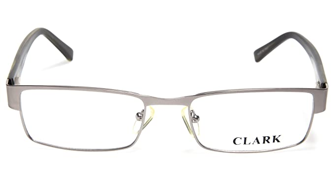 16e4cf6539a Amazon.com  NEW CLARK by TREVI COLISEUM K810 C3 SILVER EYEGLASSES ...
