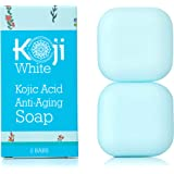 Kojic Acid Anti-Aging Soap (2.82 oz / 2 Bars) - Moisturizing & Hydrating Soap for Younger-Looking Skin - Idea for Dark Spots, Acne Scars, Nourished Skin