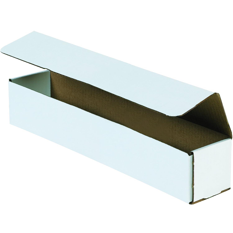 BOX USA BM2662 Corrugated Mailers, 26 x 6 x 2 White (Pack of 50)