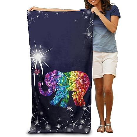 300 G colorido feliz elefante rápido seco adulto toalla de playa