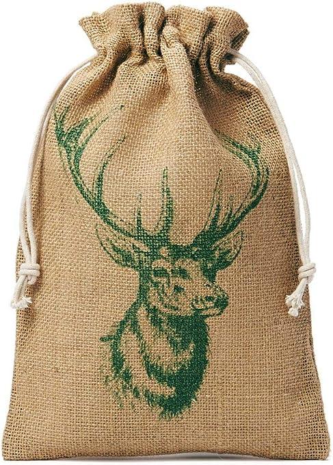 5 bolsas de yute, bolsitas de yute con cordón de algodón y ...