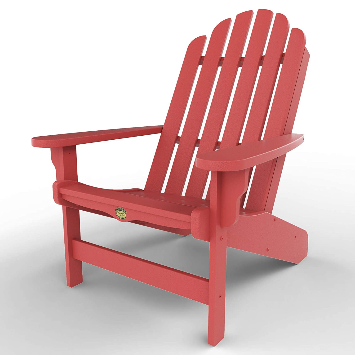 Original Pawleys Island DWAC1RD Durawood Essentials Adirondack Chair, Red