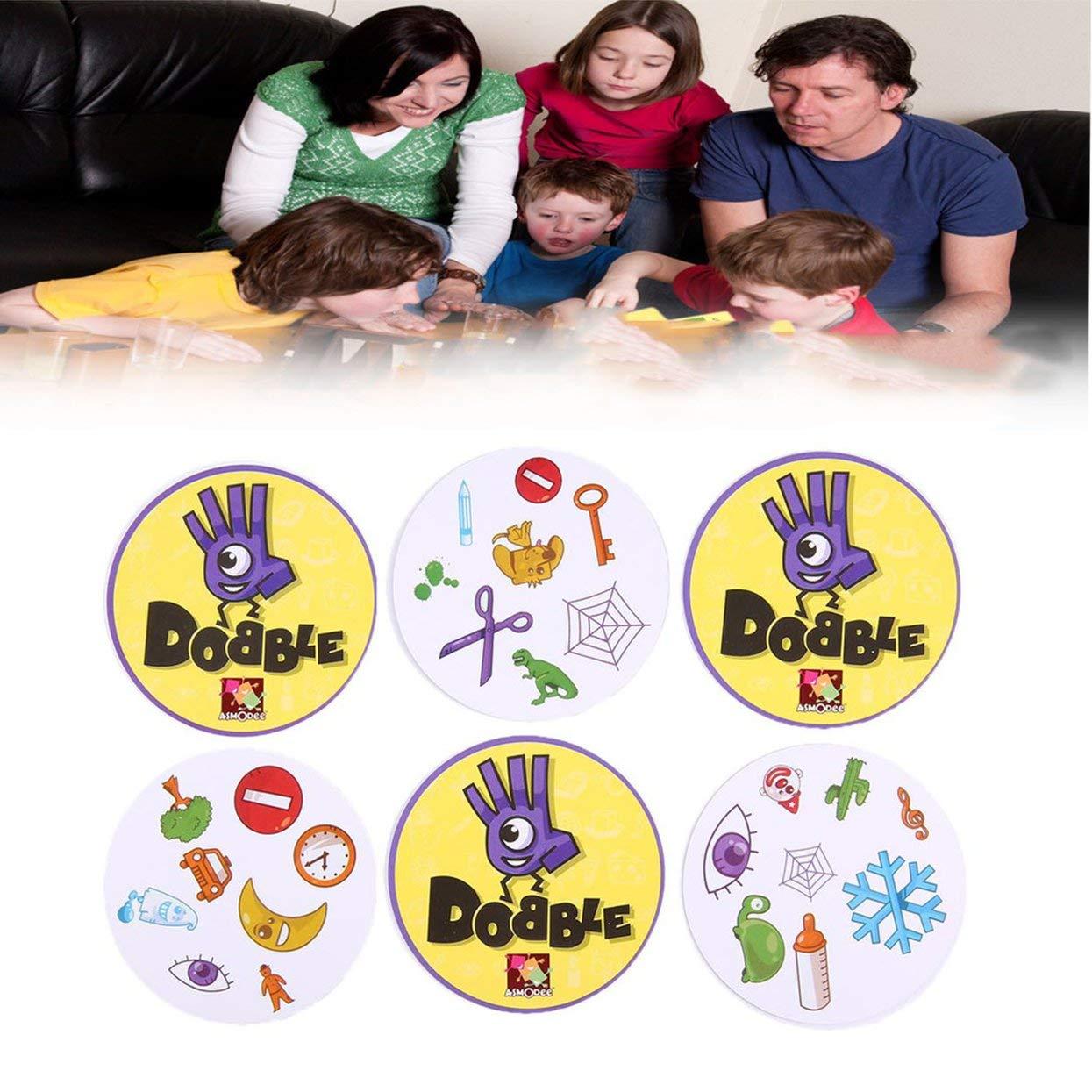 LoveOlvido DOBBLE Jeu de soci/ét/é Sport et Alphabet pour samuser en Famille trouver la Version Anglaise Multicolore