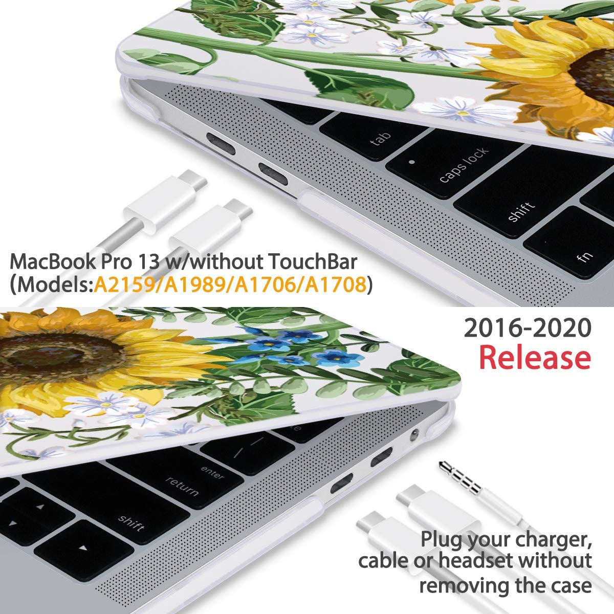 Hard Laptop Cases Yellow Spring Retro Beautiful Leaf Plastic Hard Shell Compatible Mac Air 11 Pro 13 15 MacBook Air Case A1466 Protection for MacBook 2016-2019 Version