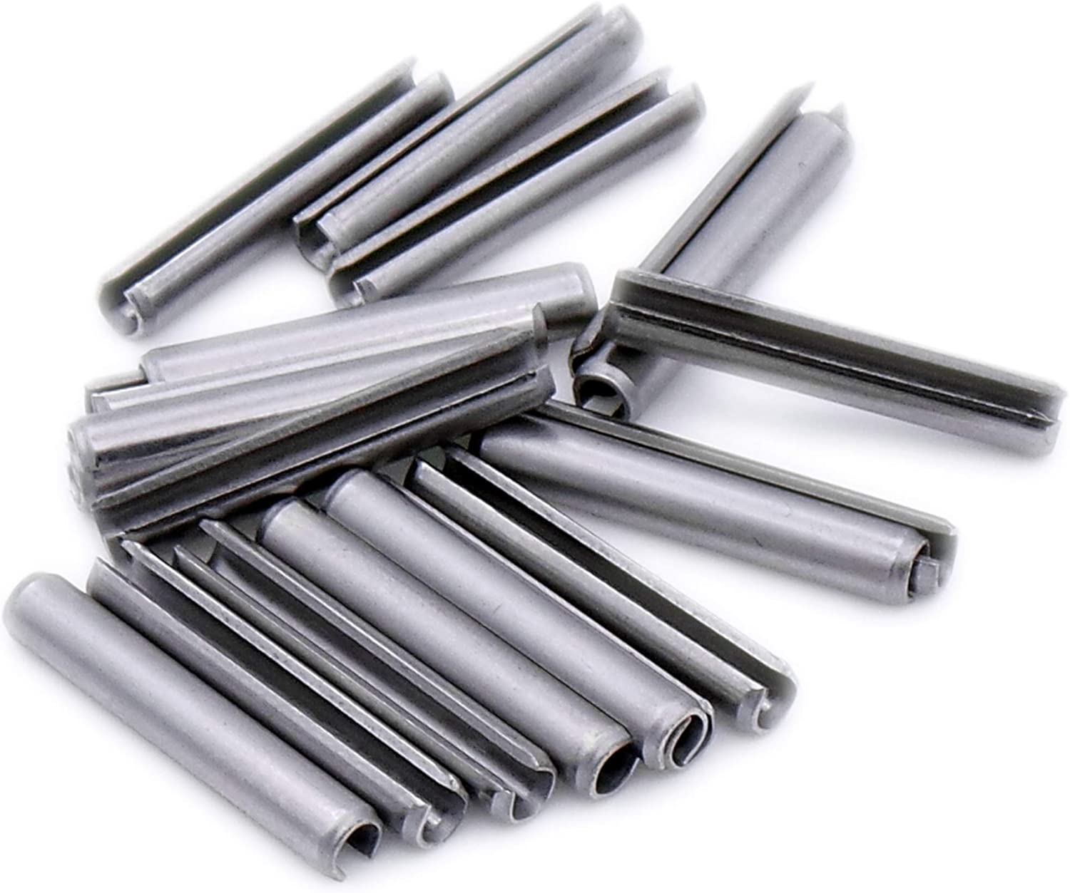 D3.5 Heavy Pack of 20 Slotted Spring Pin A1 3.5mm x 40mm - Stainless Steel