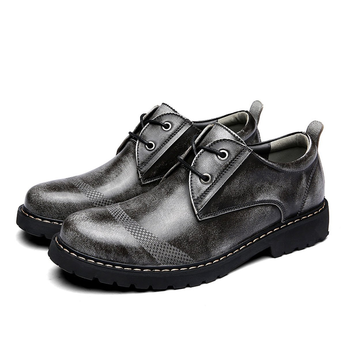Herrenschuhe Verschleißschutz Leder Atmungsaktiv Business Freizeitschuhe Verschleißschutz Herrenschuhe Spitze England Schuhe Herrenschuhe Gray 5d52b1