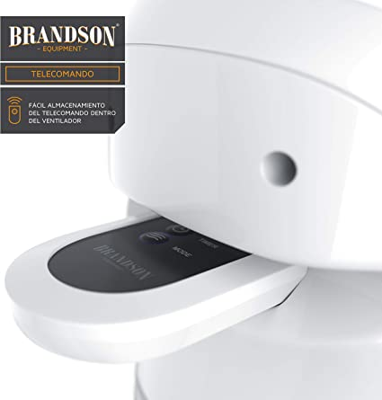Brandson - Ventilador de Torre con Mando a Distancia - 60W - 3 ...