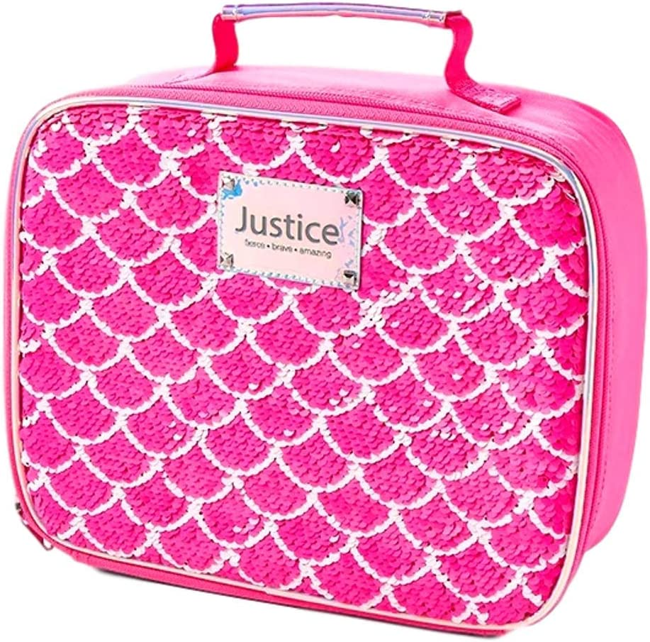 T JUSTICE INITIAL BACKPACK//LUNCHBOX FLIP SEQUINS PINK//PURPLE SUPER CUTE!!!