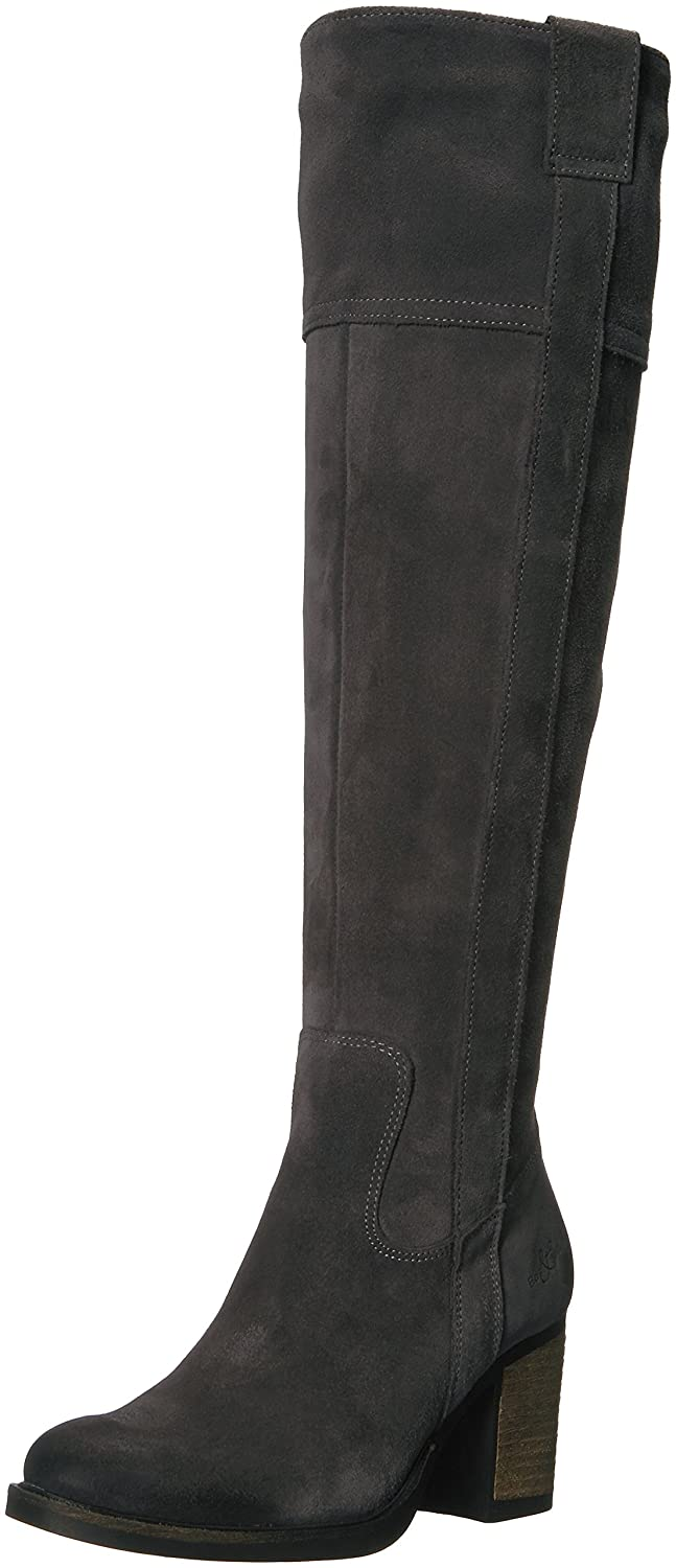 Bos. & Co.. Women's Horton Knee High Boot B06X9FZ2QZ 38 M EU (7.5-8 US)|Grey Oil Suede
