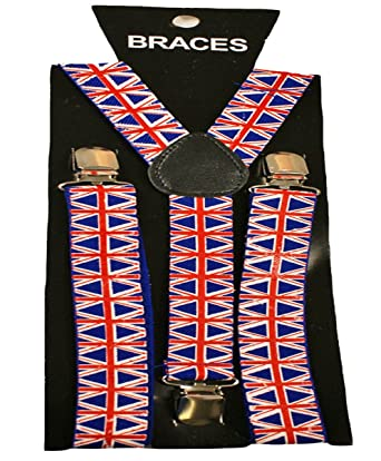 SEE LISTING FOR MANY COLOURS IN STOCK BRACES SUSPENDERS ADJUSTABLE PLAIN NEON SKULL PIANO MEN WOMENS UNISEX NEW