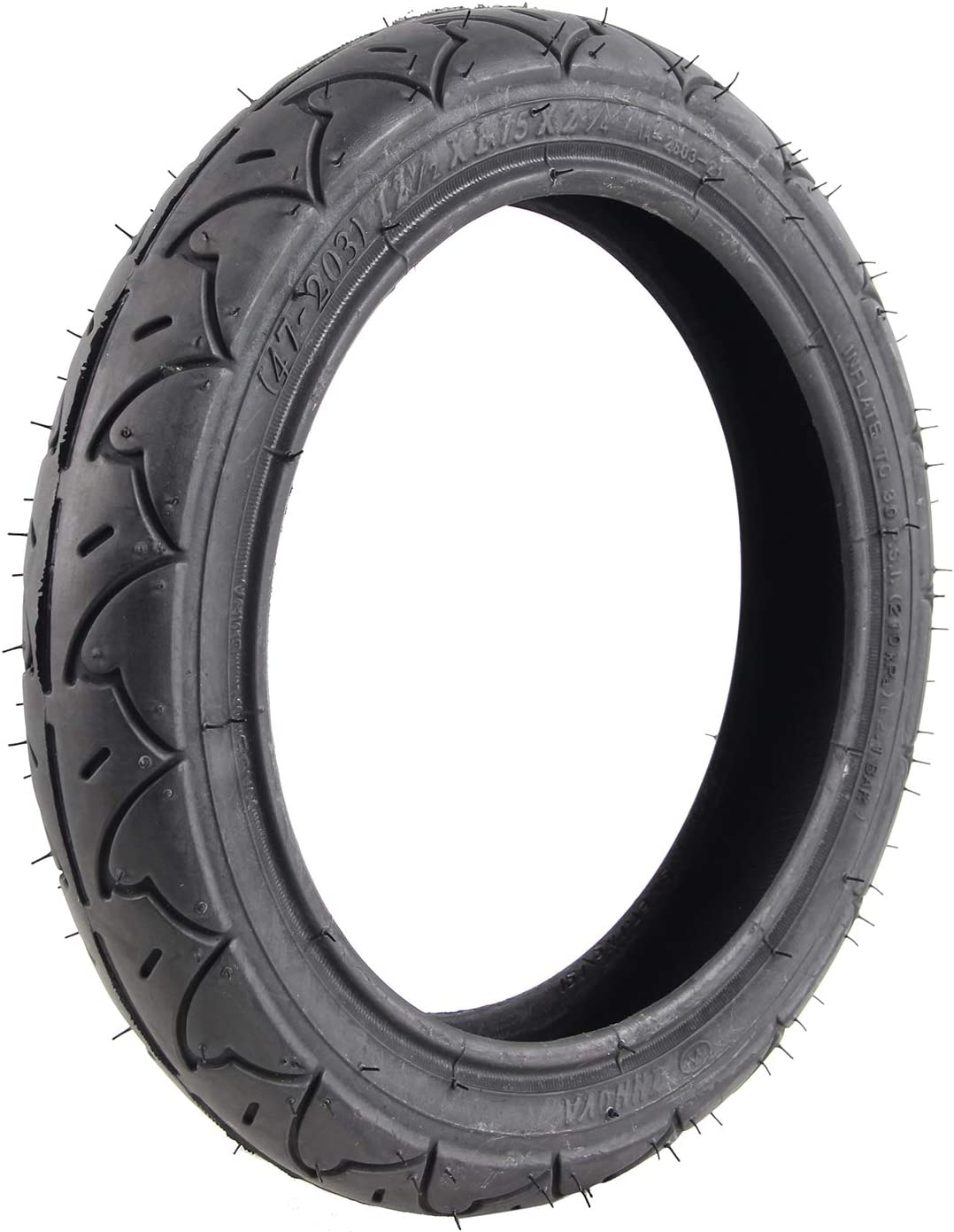 1PC 12-1/2 x 1.75 x 2-1/4 Tire Replacements of Joovy Zoom/BOB Revolution Flex/PRO/SE Jogging Stroller/Baby Trend Expedition/Xcel/Range/Stealth Jogging Stroller/Graco Jogger Strollers
