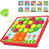 NextX Early Learning Educational Toys -Button Art Mushrooms Nails Preschool games Kid Toys for boys and girls