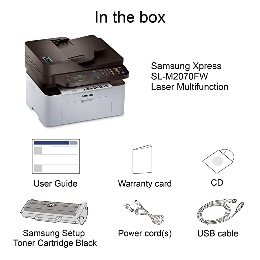 e6c9b64b3463d Amazon.com  Samsung Xpress M2070FW Wireless Monochrome Laser Printer with  Scan Copy Fax, Simple NFC + WiFi Connectivity, Amazon Dash Replenishment  Enabled ...