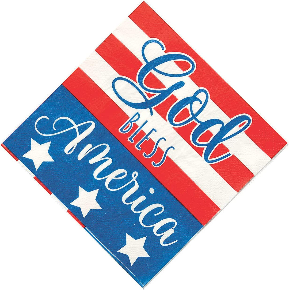 God Bless America Lunch Napkins (16Pc) - Party Supplies - 16 Pieces