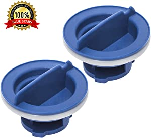 Ultra Durable W10077881 Dishwasher Rinse Aid Cap Replacement Part by Blue Stars - Exact Fit for Whirlpool, KitchenAid Dishwashers - PACK OF 2