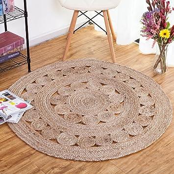 Amazon Com Home Rugs Round Rug Hand Woven Jute Round Carpet