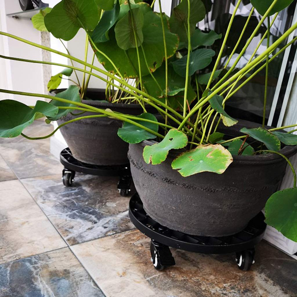 ZHEN GUO Heavy Duty FRP Plant Caddy Strong & Durable Round Plant ...