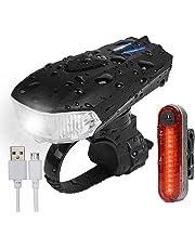 AMANKA Luz Bicicleta USB, Linterna Bicicleta Impermeable con Luz Bicicleta Delantera, Luz LED Bicicleta para Carretera y Montaña - Seguridad para la Noche