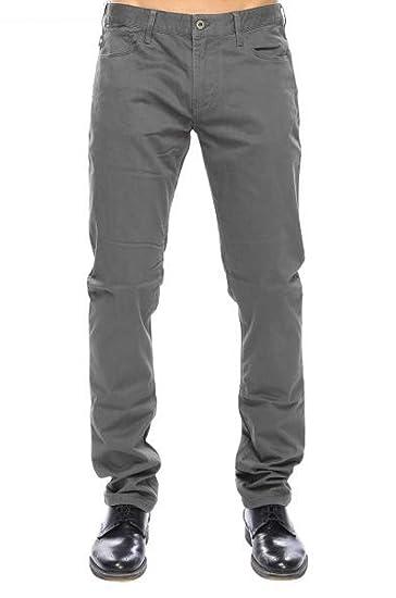 great fit d7eda 42e1a Emporio Armani Pantaloni Uomo 5 Tasche Logo su Tasca ...