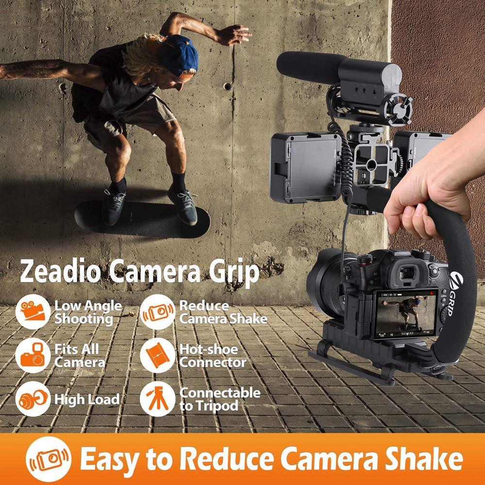 Nikon Panasonic Pentax Samsung y Olympus c/ámara videoc/ámara Sony Zeadio Estabilizador port/átil con 3 z/ócalo Accesorio para Canon