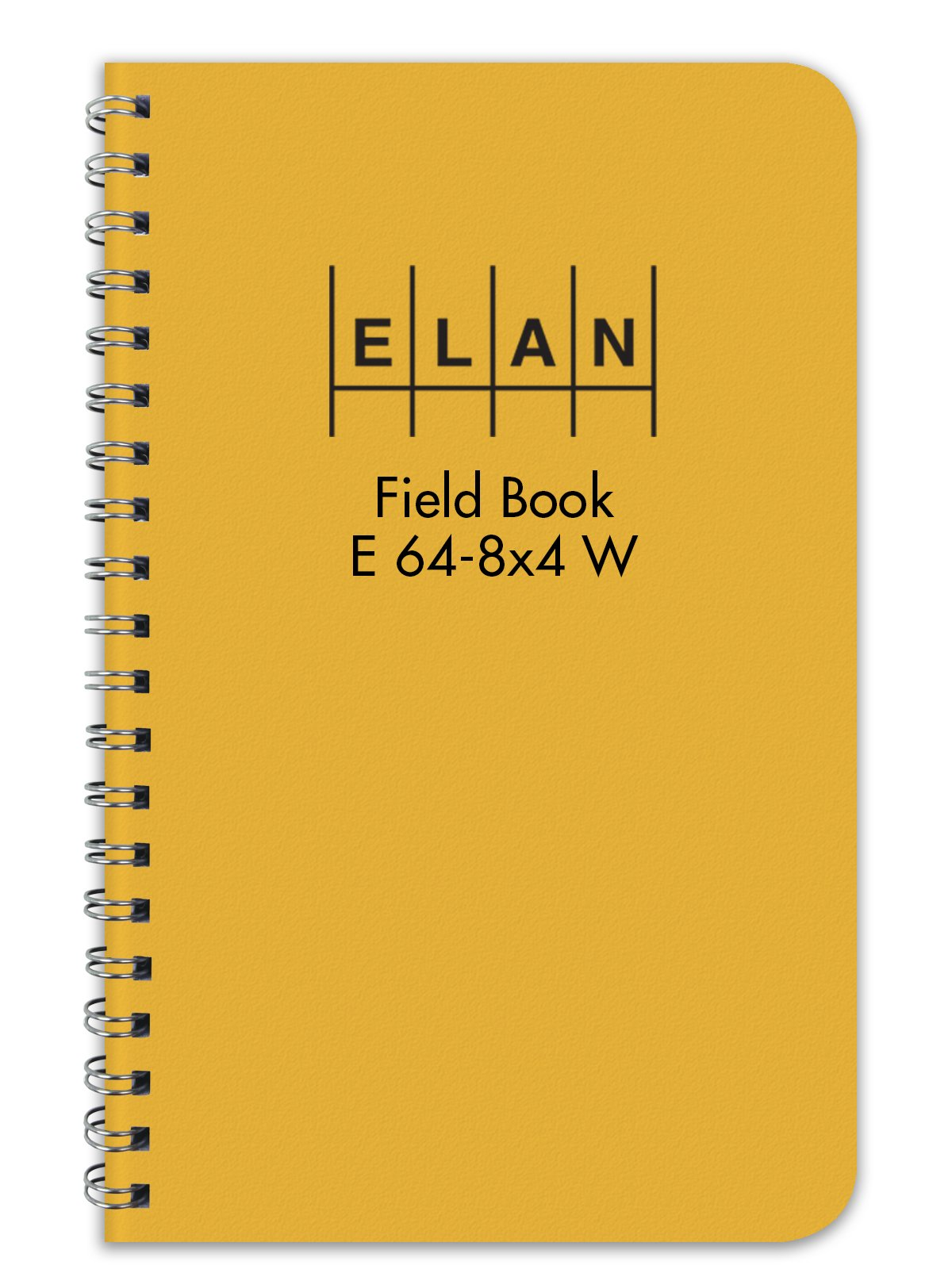 Elan Publishing Company E64-8x4W Wire-O Field Surveying Book 4 ⅞ x 7 ¼ Yellow Stiff Cover (Pack of 12) by Elan Publishing Company