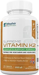 Vitamina K2 (Menaquinona) para veganos y vegetarianos | Mantenimiento de alta calidad para huesos
