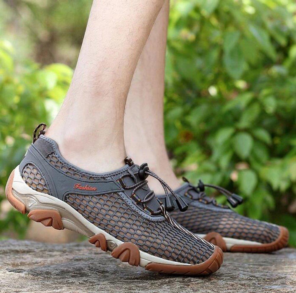 Baymate Hombres Cómodas Sandalias Slip-on Malla Exterior Zapato de Agua Zapatillas de Deporte Verde 42 TaSeTb