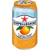 Agua Mineral sabor Naranja, San Pellegrino, Aranciata Italiana, 330 ml, Paquete de 12